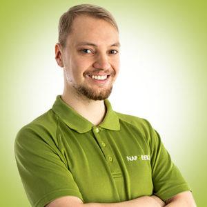 Urheiluhieroja Arttu Siiralla on leveä hymy.